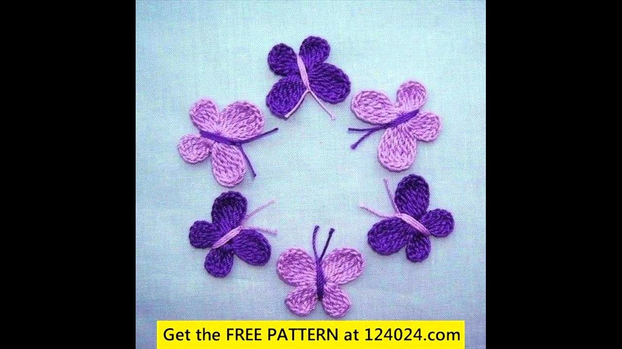 Crochet butterfly applique
