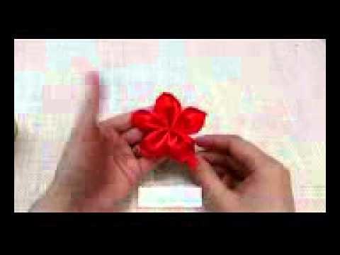 ♡ ❀ ♡ D I Y  Heart Shaped Petal Kanzashi Valentine's Day Flower ♡ ❀ ♡