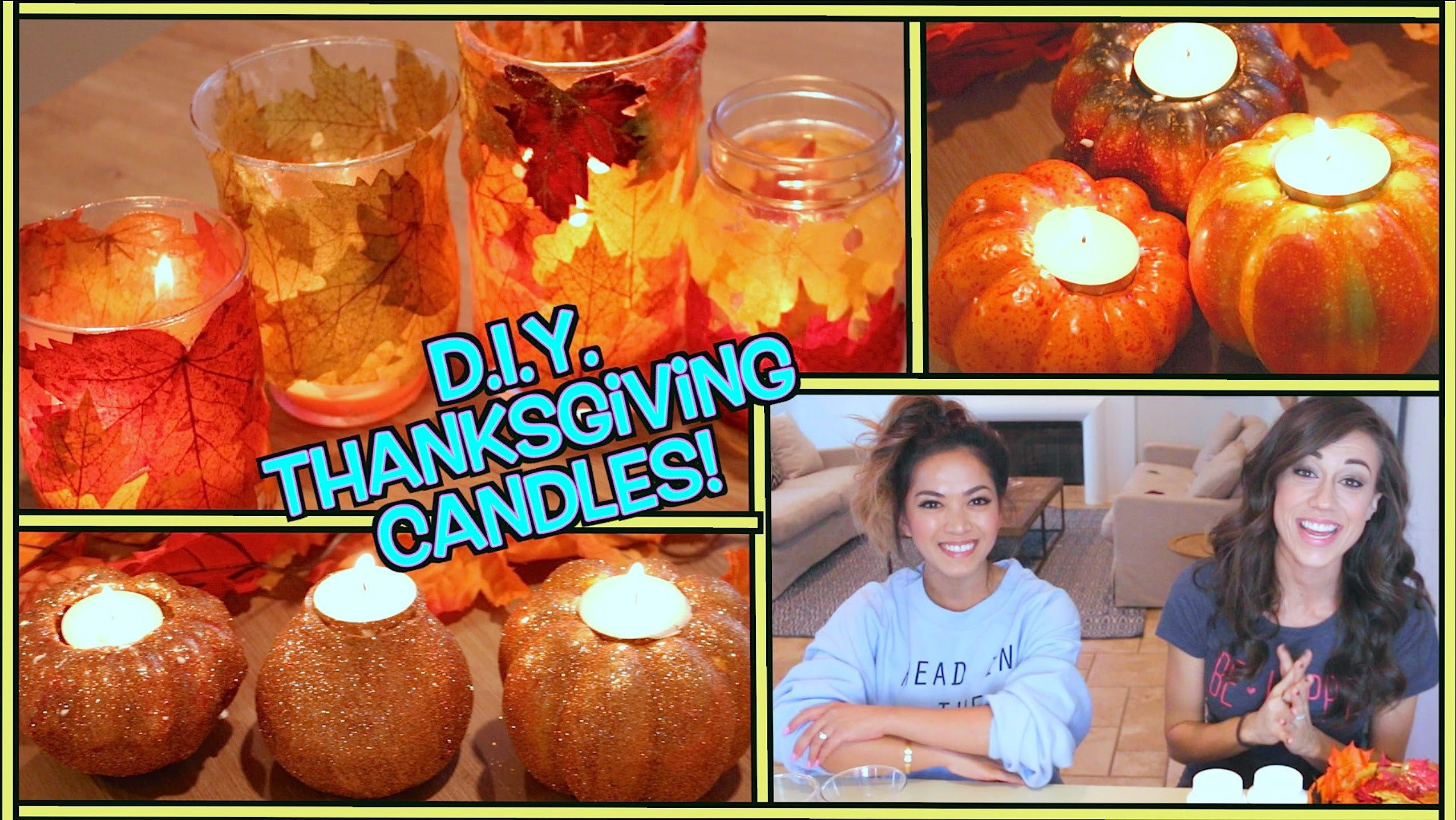 D.I.Y. THANKSGIVING CANDLES!  w. ThatsHeart!