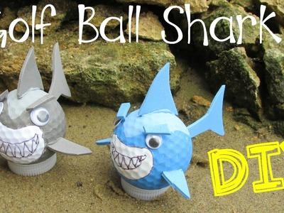 DIY Golf Ball Sharks for Shark Week!