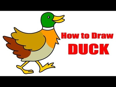 DIY - How to Draw Duck | Creative Art Work | Easy Drawing Steps