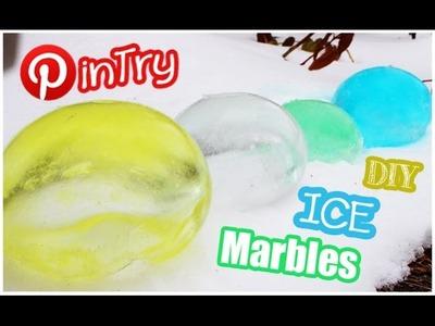 DIY Ice Marbles | PINTRY