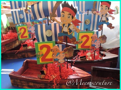 DIY Jake And The Neverland Pirates Party Center Pieces