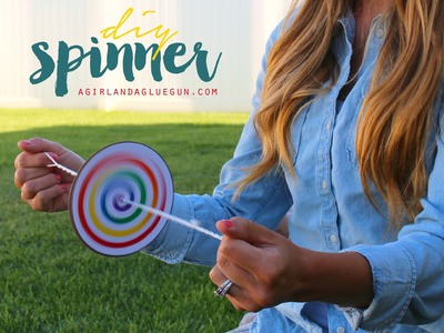 Diy kids craft spinner