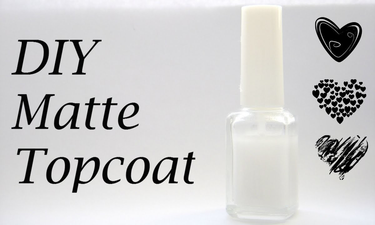 DIY:  Matte Topcoat How To Make At Home Tutorial