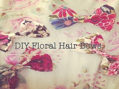 ✄ DIY No Sew Floral Hair Bows ♥