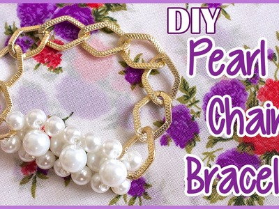DIY Pearl & Chain Bracelet | Arm Candy