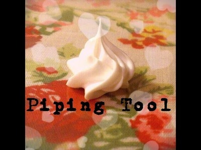 DIY: Star Tipped Piping Tool for Silicone. Deco