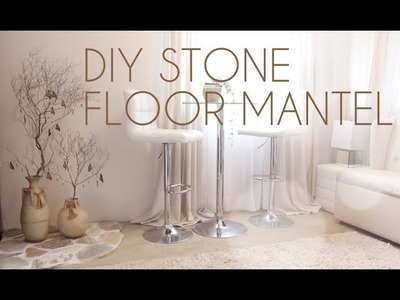 DIY Zen Decor: Stone Floor Mantel
