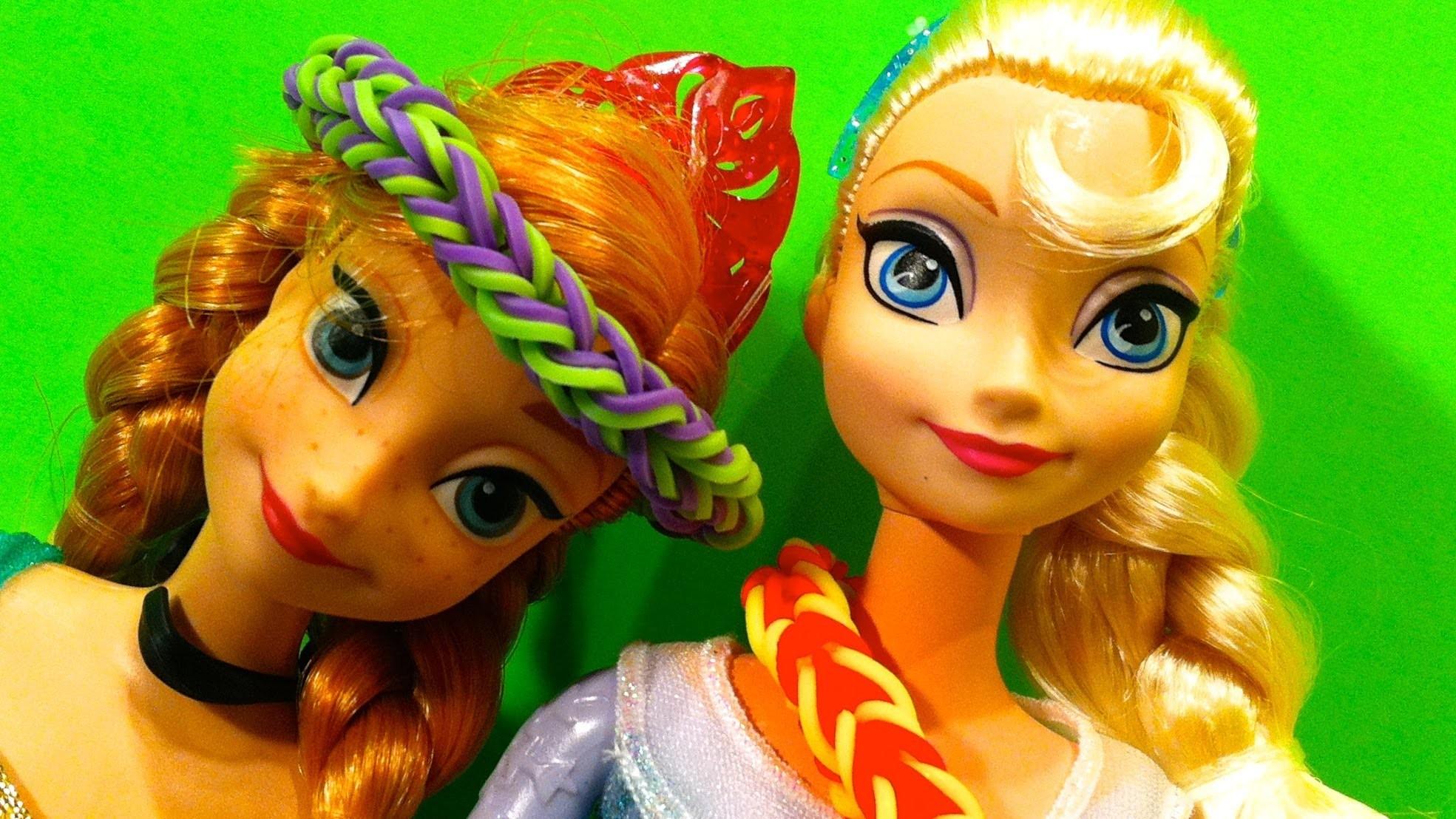 Frozen Elsa How to make Rainbow Loom Triple Single Movie, Cookie Monster Googoo Gaga Show