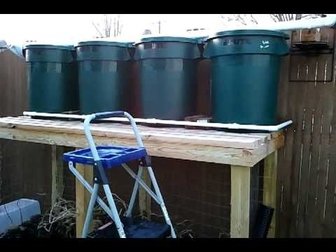 How to build a 125 gallon rain barrel system(gravity fed)