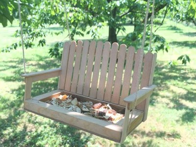 How To Create A Pretty Swing Bench Birds Feeder - DIY Crafts Tutorial - Guidecentral