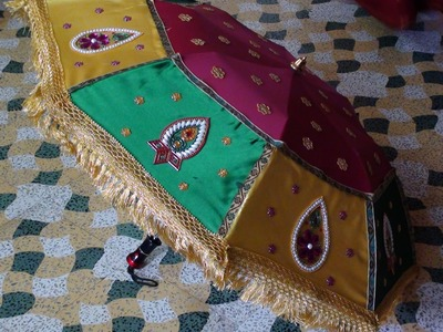How to decorate an umbrella for Indian Weddings