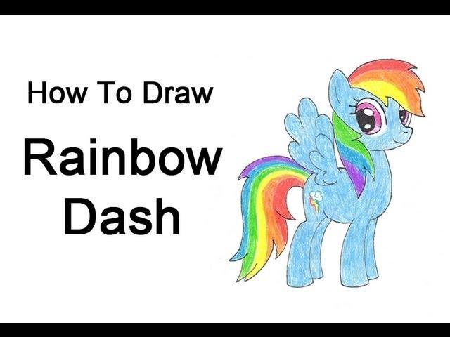 How to Draw Rainbow Dash (My Little Pony)