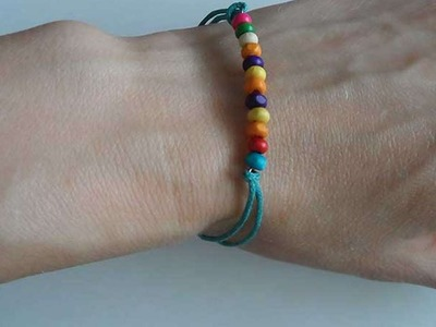 How To Make A Bright Bracelet With Wooden Beads - DIY Crafts Tutorial - Guidecentral