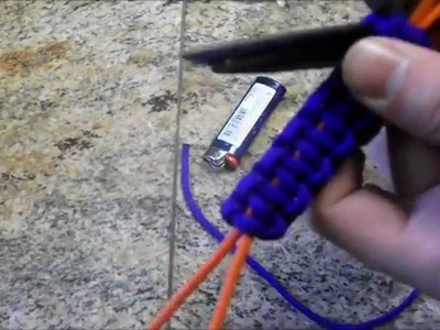 How to make a paracord knife lanyard w. wrist loop