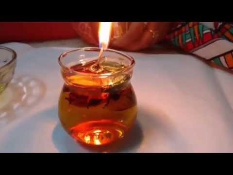How To Make Cheap Candles With Oil - DIY