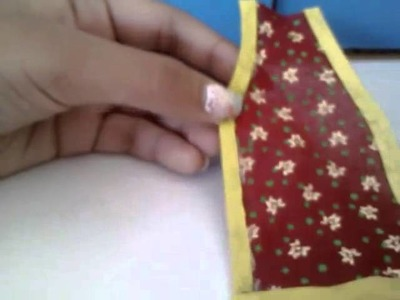 How to make doll apron