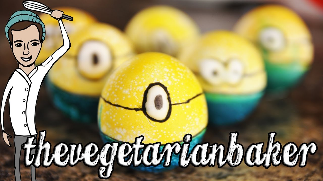 How To Make Minion Easter Eggs (TheVegeterianBaker)