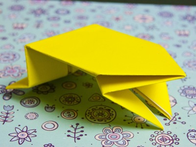 How to make paper frog origami