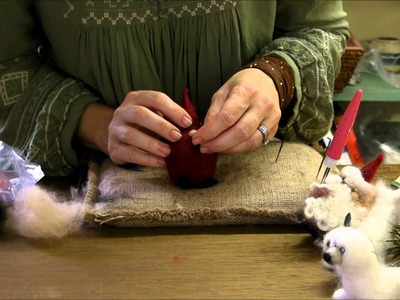 How to Needle Felt - Ornament Series: Santa by Sarafina Fiber Art
