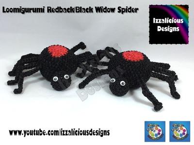 Loomigurumi Spider | Black Widow for Halloween - hook only - amigurumi with Rainbow Loom Bands