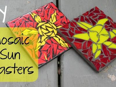 Mosaic Sun Coasters DIY   Another Coaster Friday