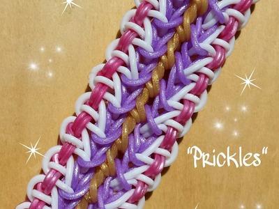 "NEW ""Prickles"" Rainbow Loom Bracelet.How To Tutorial"