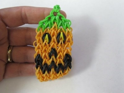 New Rainbow Loom Jack O'Lantern Pumpkin Bracelet for Halloween!