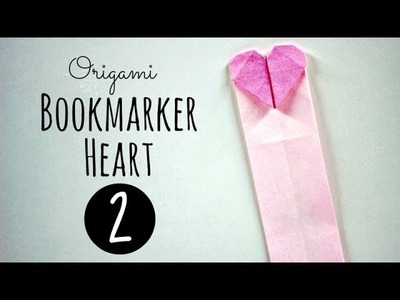 Origami bookmarker (heart 2)