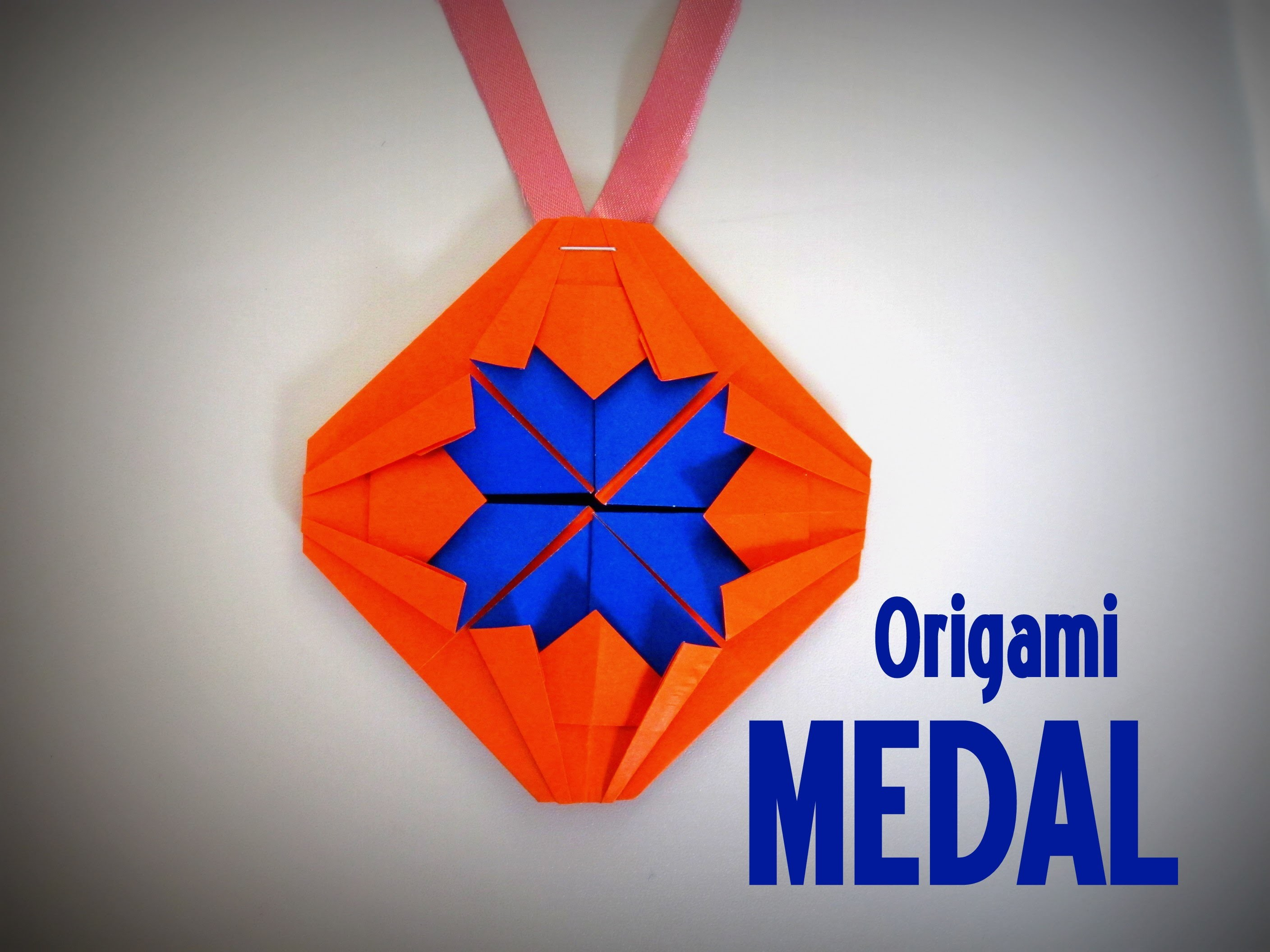 Origami - How to make a MEDAL
