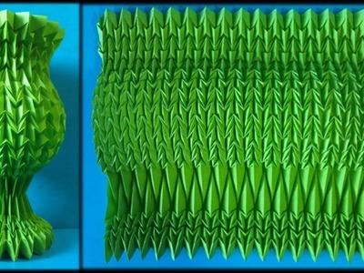 Paper Vase Type Flute -Origami Folding-