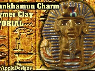 Polymer Clay Mask Of Tutankhamun Pendant.Charm Tutorial