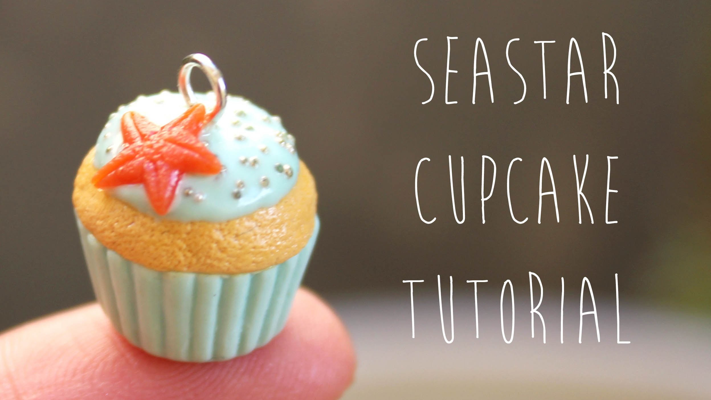 Polymer Clay: Sea Star Cupcake Charm