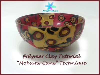 "Polymer Clay Tutorial - ""Mokume Gane"" Technique - Lesson #18"