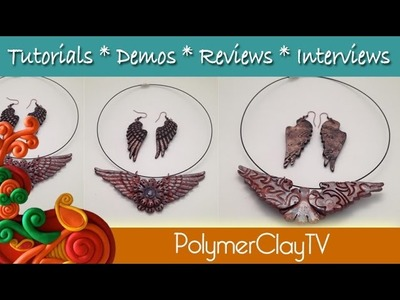 Polymer Clay Wing Mold Earrings and Necklace so easy and fun to make!