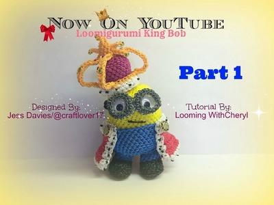Rainbow Loom King Bob Minion - Part 1 of 4 Loomigurumi. Amigurumi - Looming WithCheryl