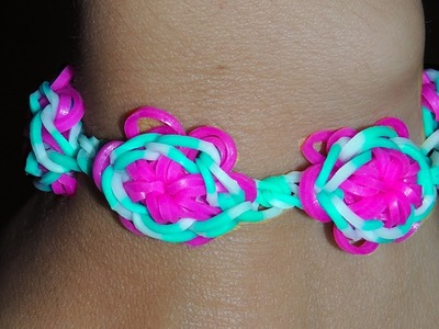 Rainbow Loom Lone Star Bracelet Loom Bands Tutorial