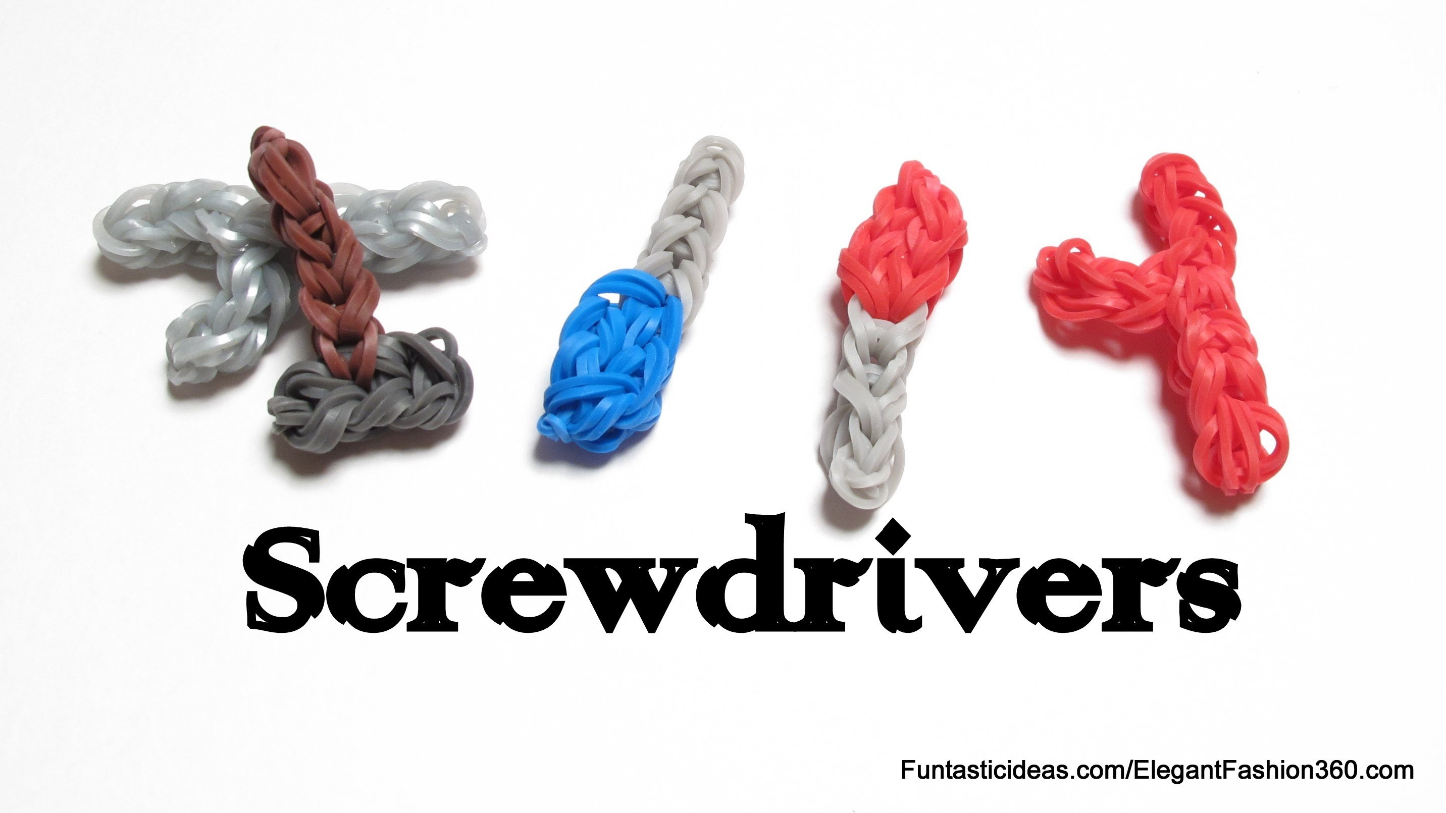 Rainbow Loom Screwdriver charms - How to- Father's Day Gift Ideas: Tools Set