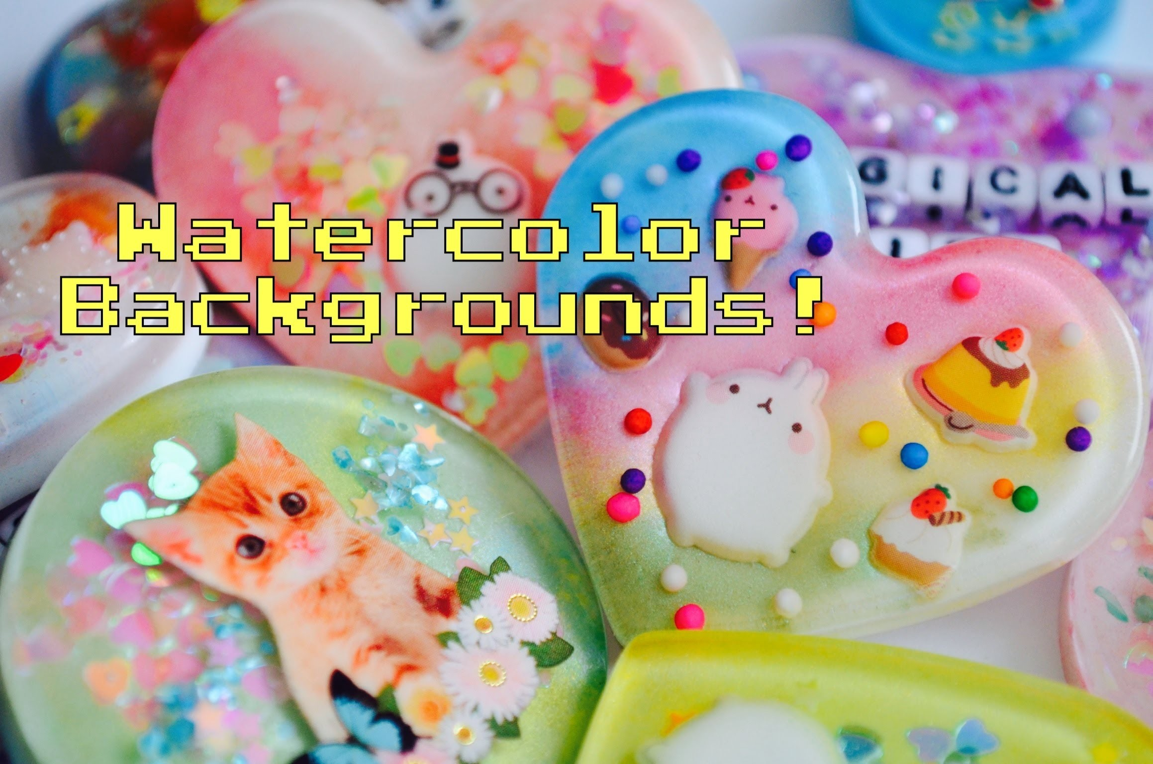 ✾Resin Tutorial: Watercolor.Pearl Backgrounds