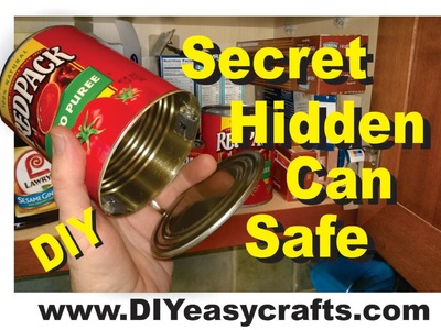Secret Hidden Can Safe How to Make Easy DIY