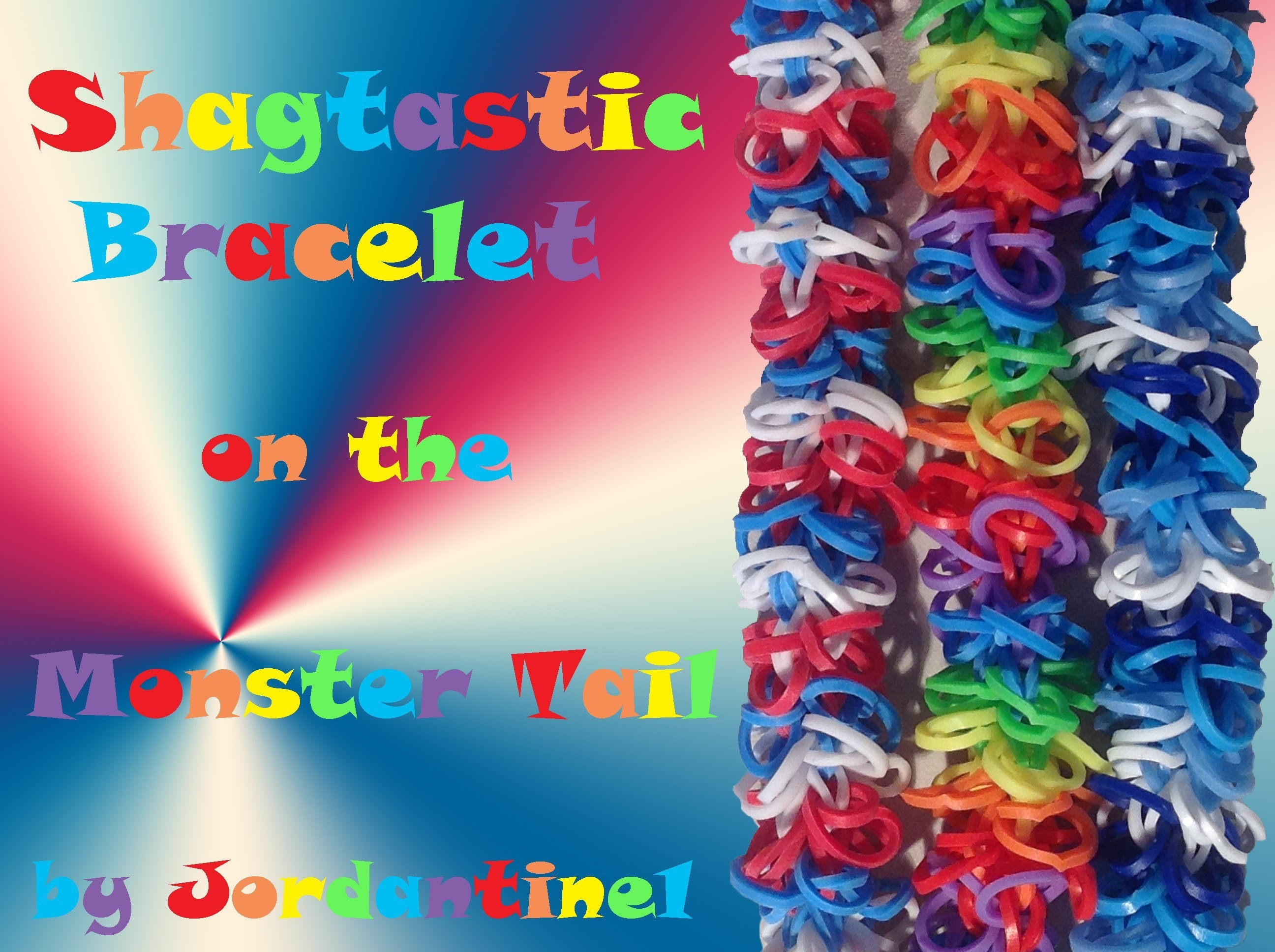 Shagtastic Bracelet made on the Monster Tail - Rainbow Loom, Finger Loom
