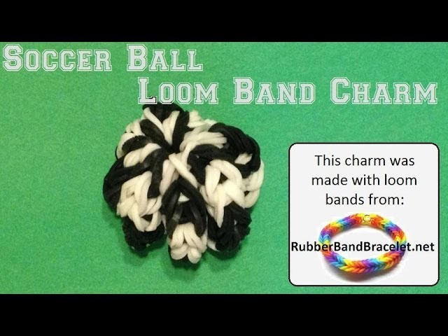 Soccer Ball (World Cup) 3D Loom Band Charm - Made Without Rainbow Loom
