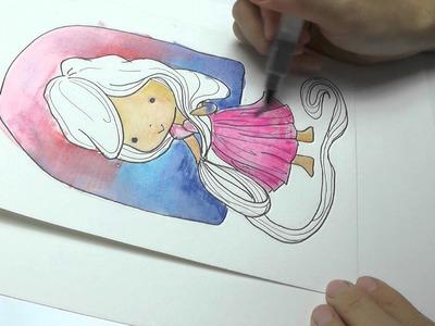 Speed Drawing Rapunzel - Step by Step DIY