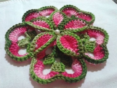 Step by Step Tutorial for Making Crochet 3 D Flower