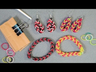 Stretch band fishtail earrings and bracelet