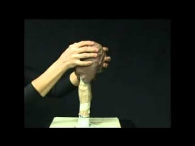 The armature for sculpting the head in a water-based clay. Demo