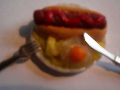 Tutorial: Perrito Caliente , Huevos y Patatas. Tutorial : Hot dog , Eggs and Fries.Chips