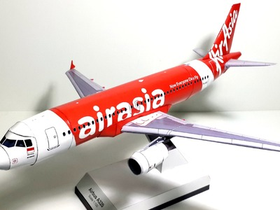 1:100 scaled Paper Model of the Air Asia's Airbus A320-200 by Atamjeet