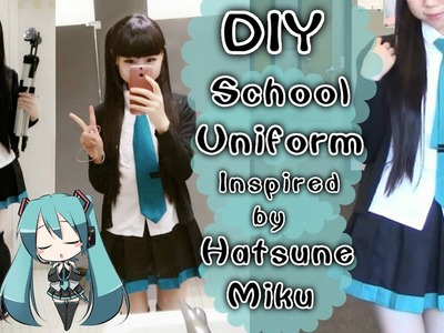 Back to School DIY: Hatsune Miku Inspired Daily School Uniform (Easy)